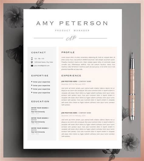 Resume Ideas by Best 25 Resume Templates Ideas On