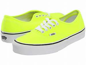 Vans Authentic™ Neon Yellow True White Zappos Free