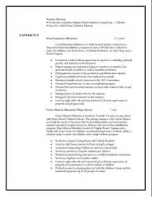 Cus Resume Format by Ministry Resumes Templates 28 Images Ministry Resume Helps 7 Best Images About Resume S On