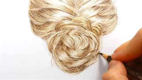 timelapse drawing coloring realistic hair  colored