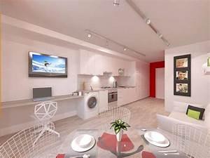 Stylish, And, Functional, Suburban, Small, Condo, Apartment