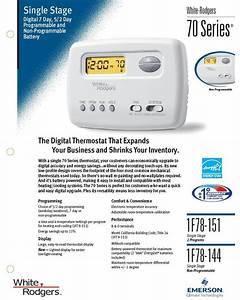 Thermostat White Rodgers Programmable Heat Pump Or Gas