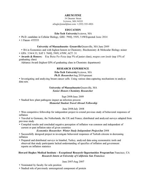 Chemistry Resume Format by Application Letter Sle Cover Letter Sle