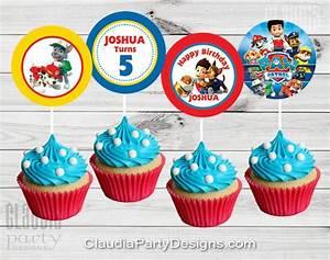 Paw Patrol Cupcake Toppers - Paw Patrol Birthday - Claudia