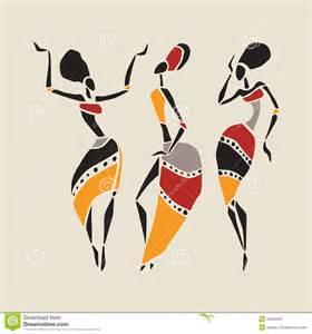African American Woman Dancers Silhouette