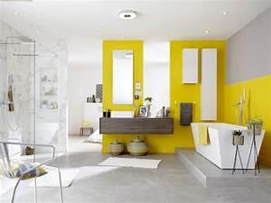 salle de bain bleu et jaune - salle de bains osez la couleur
