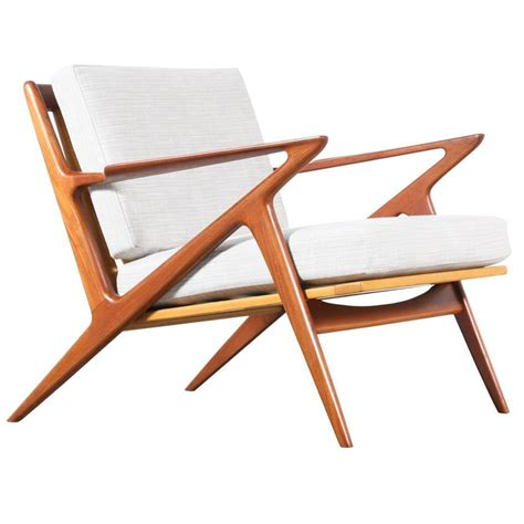 poul quot z quot teak lounge chair for selig at 1stdibs