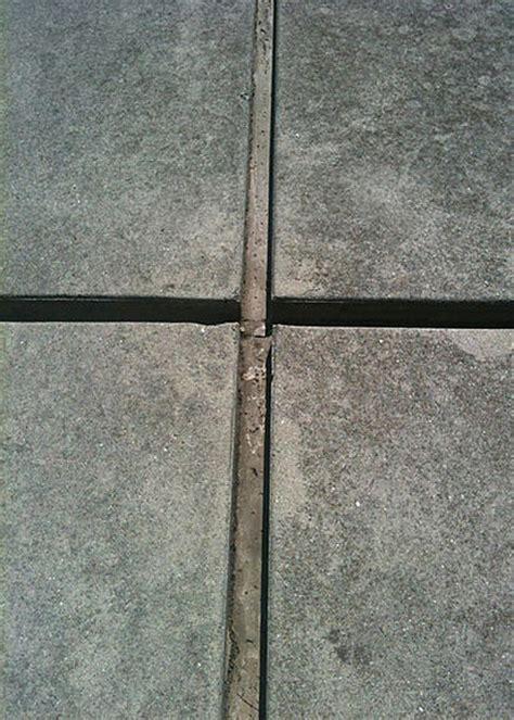 patio concrete slabs fill gaps ceramic tile advice