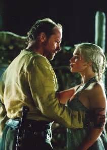 Emilia Clarke and Iain Glen