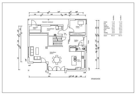 Offene Wohnküche Grundriss by Grundriss Einfamilienhaus Erdgeschoss Offen Mit Wohnk 252 Che