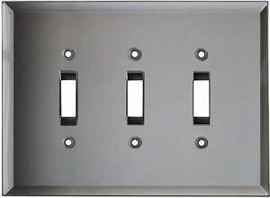 Flat Plate Toggle Light Switches Glass Mirror Grey Tint Light Switch Plates Outlet Covers