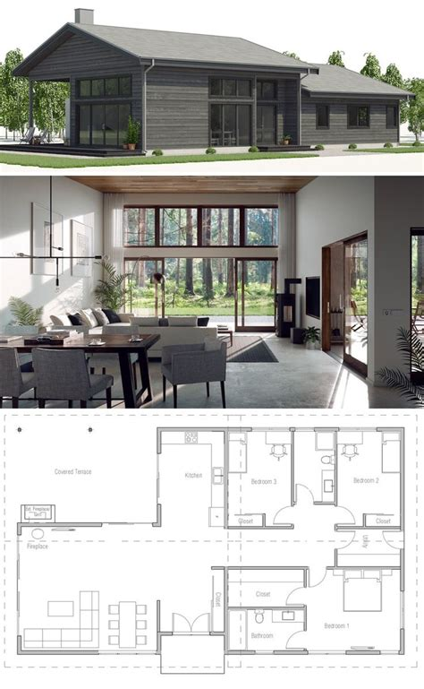 House Plan CH525 in 2020 Model house plan House plans