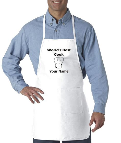 mens custom personalized apron worlds  cook chef