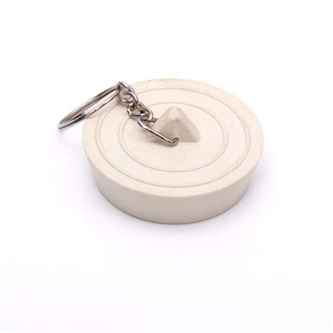 rubber sink stopper with chain bath basin kitchen sink waste white chrom rubber