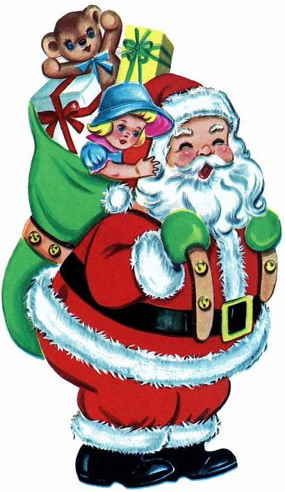 Christmas Santa Toys Retro Graphics