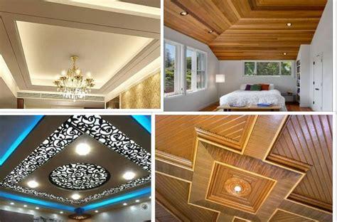 model plafon rumah minimalis  gypsum  kayu