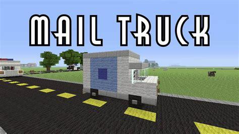 minecraft truck stop minecraft vehicle tutorial mail truck youtube
