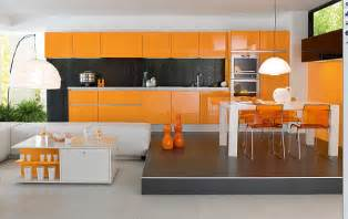 Modern Kitchen Canisters Decorating With Orange How To Incorporate A Risky Color Tastefully