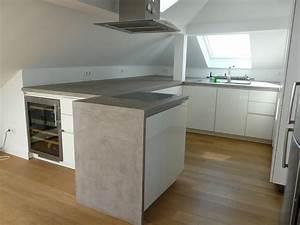 Arbeitsplatte Küche Beton : wand wohndesign beton cire beton cir ~ Watch28wear.com Haus und Dekorationen