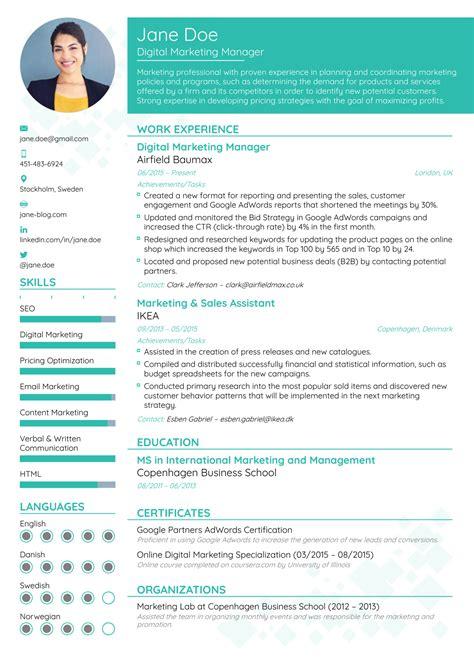 preferred resume format salescvinfo
