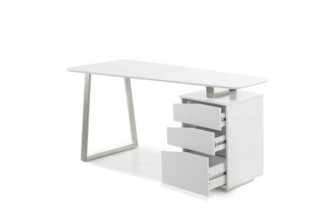 meuble bureau blanc bureau d 39 ordinateur blanc laqué mat novomeuble