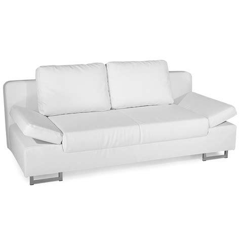 canapé non convertible canape simili cuir blanc