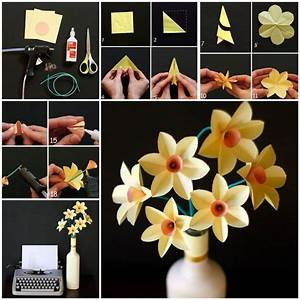 DIY : Origami Flowers Step by Step Tutorials - K4 Craft