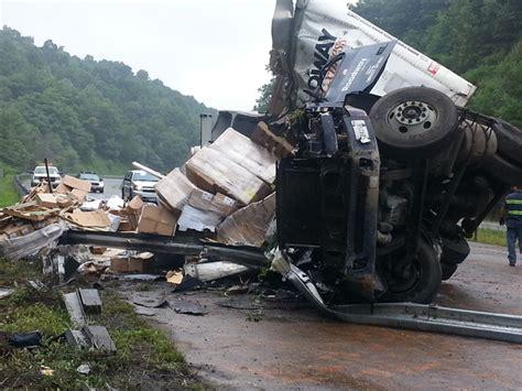 mt airy news truck crash    claims life  delays