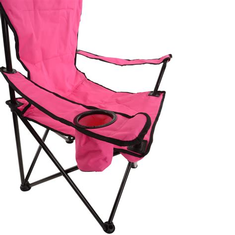 azuma deluxe easy fold away padded cing chair drinks