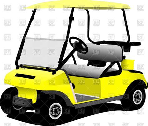 Golf Cart Clip Yellow Electrical Golf Car Vector Image Vector Artwork