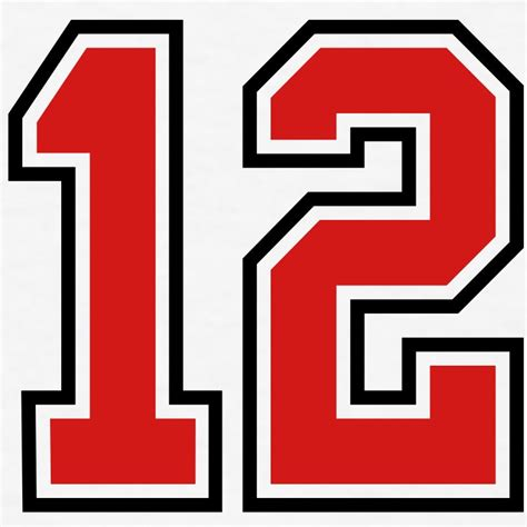 Red Number 12 | www.pixshark.com - Images Galleries With A ...