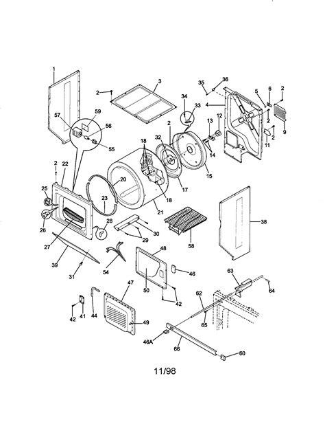 kenmore he2 dryer parts diagram
