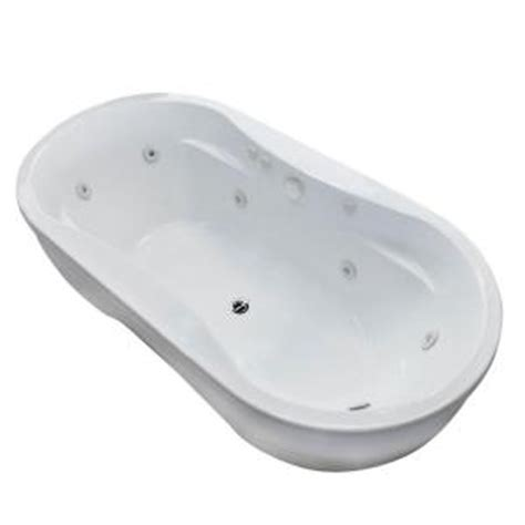 universal tubs agate 6 ft whirlpool tub in white hd3471aw