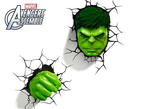 marvel 3d fx deco light avengers hulk led wall nightlight