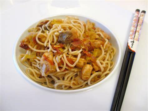 pates chinoises au poulet et chignons noirs