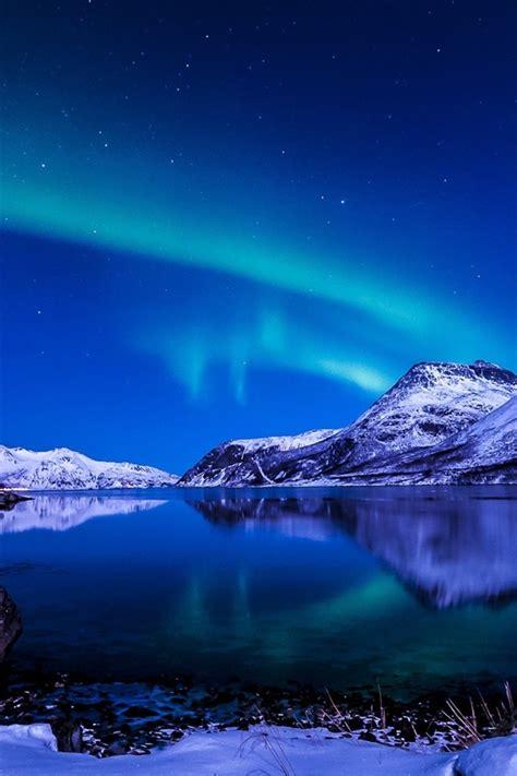 schoener himmel nacht winter island nordlichter