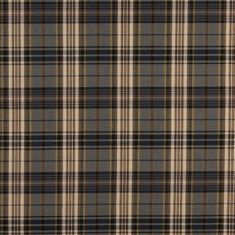Cambridge Beige And Brown Plaid Country Cabin Damask
