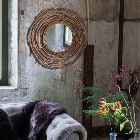 miroir en rotin miroir en rotin kubu par drawer fr
