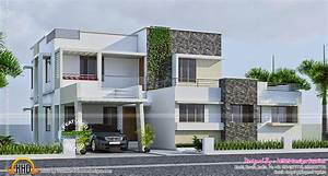 Contemporary 289 square yards house elevation - Kerala