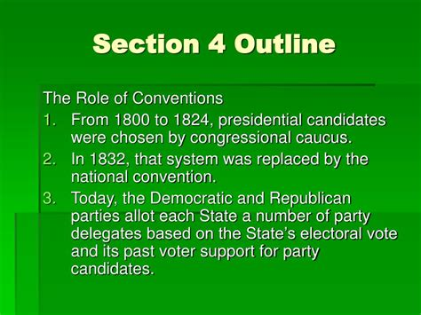 chapter 13 section 4 presidential nominations ppt chapter 13 section 4 pp 368 375 powerpoint