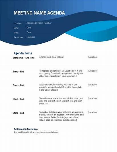Agenda Meeting Template Word Office Creative Templates