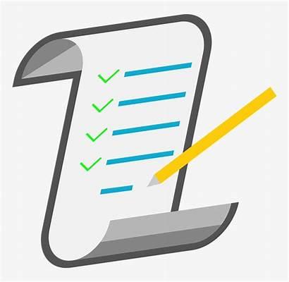 Checklist Clip Clipart Background Icon Transparent Notes