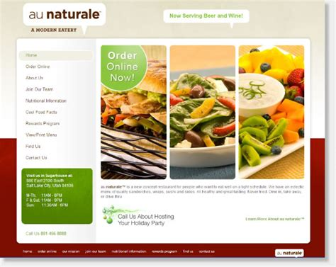 cuisine site web design portfolio denver colorado website design