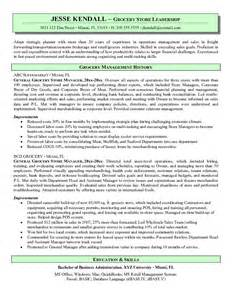 Retail Grocery Store Manager Resume by Exle Grocery Store Manager Resume Free Sle