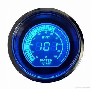 2019 Hot 2 Inch 52mm Water Temperature Gauge 12v Blue