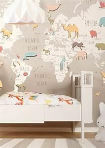 Decoration Murale Carte Du Monde : le poster carte du monde g ante vous donne envie voyager ~ Teatrodelosmanantiales.com Idées de Décoration