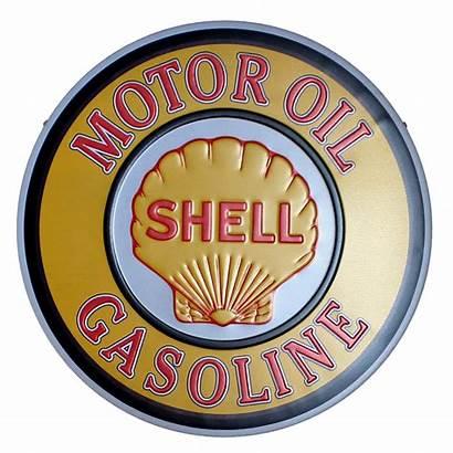 Coffee Oil Sign Bar Shell Motor Tin