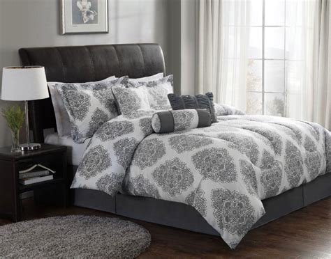 Grey Modern Comforter Sets Bed Linen Amazing White And