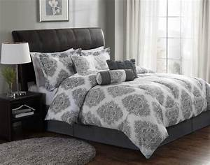 Grey modern comforter sets bed linen amazing white and for Amazing modern bedroom comforters