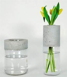 Beton Vase Selber Machen : comment cr er un vase design en une heure maison cr ative ~ Markanthonyermac.com Haus und Dekorationen